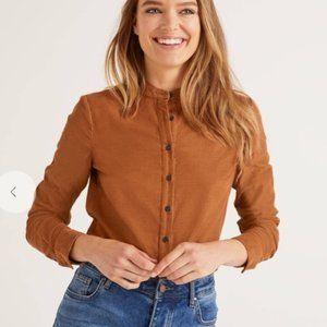 Boden Corduroy Button Shirt Pumpkin Orange